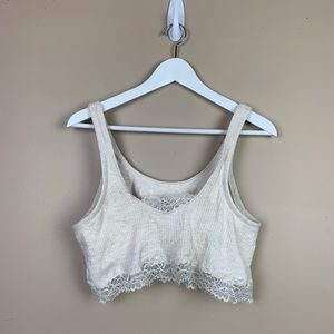 Aerie cream lace barlette XL